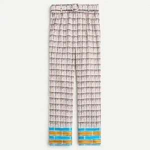 J Crew Collection high-rise silk-twill trousers